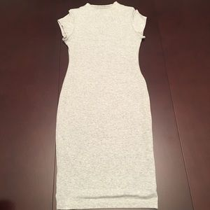 High neck fitted midi dress